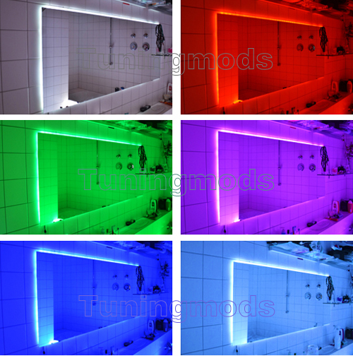 5m 500cm rgb 5050 led smd streifen stripe leiste set ir. Black Bedroom Furniture Sets. Home Design Ideas