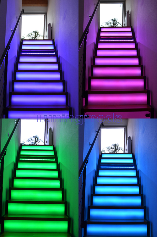 5m 500cm rgb 5050 led smd streifen strip leiste set trafo ir wasserdicht neu 60 ebay. Black Bedroom Furniture Sets. Home Design Ideas