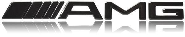 mercedes amg emblem schriftzug logo badge motor black. Black Bedroom Furniture Sets. Home Design Ideas