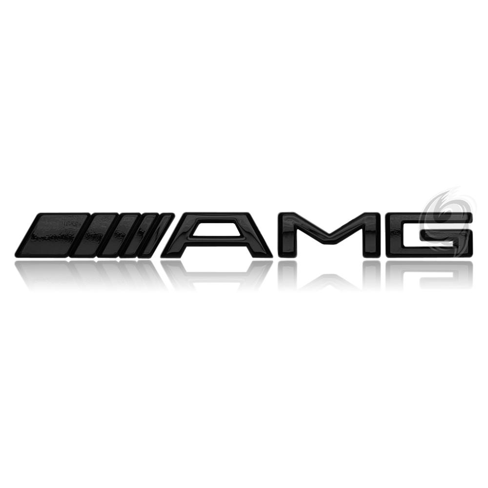 mercedes amg emblem schriftzug logo badge motor black tuning w203 w204 w210 clk ebay. Black Bedroom Furniture Sets. Home Design Ideas