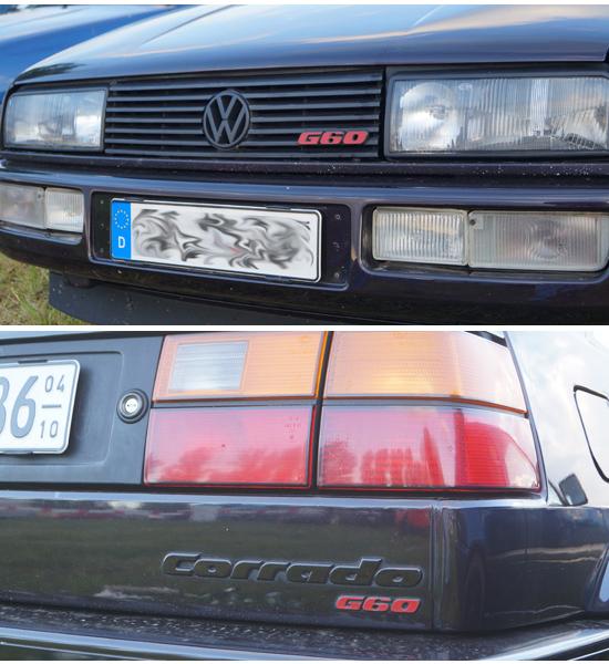 G60 Emblem Rot VW Passat 35i+Corrado+Golf 2+3 GTI