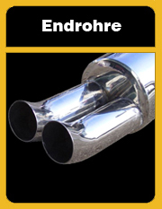 Endschalldämpfer, Endrohr, DTM Auspuff, DTM Endrohre, Sportendrohre, Sportauspuff, Edelstahl Endschalldämpfer, Tuning Auspuff