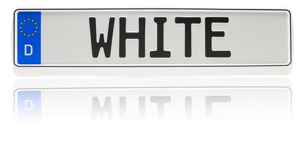 2x Schwarz-Weiß Tuning Kennzeichenhalter Opel Astra F+G+H+J 1991-2013+Kadett+E
