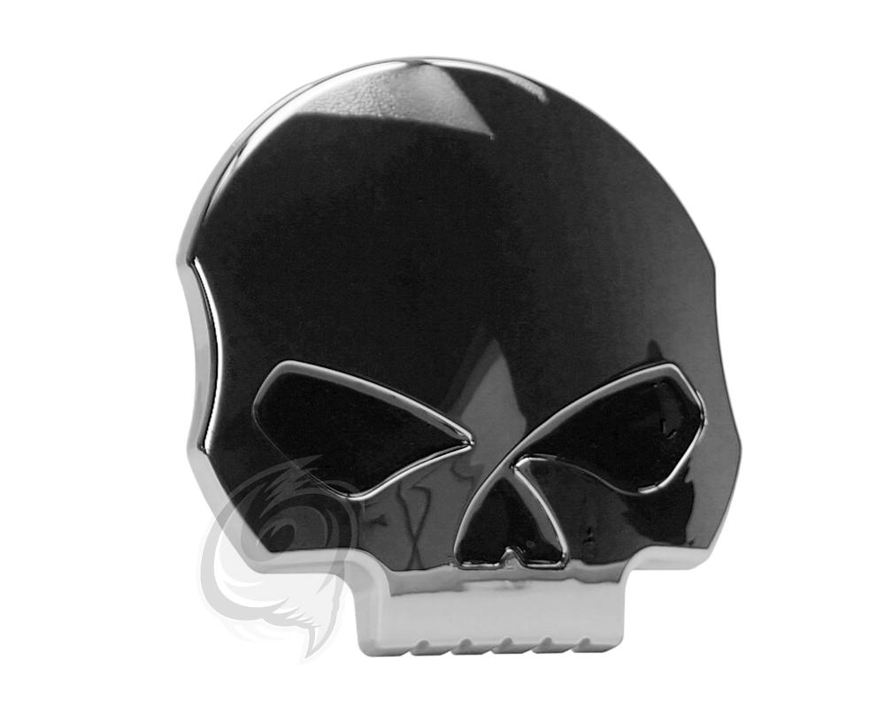 Emblem Skull Chrome Heck Emblem Totenkopf Totenschädel Punisher ...
